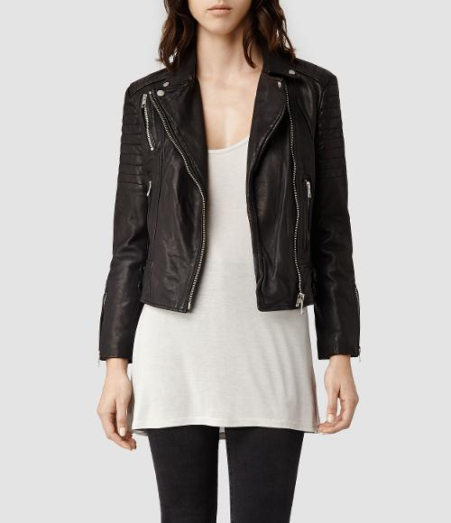 Papin Leather Biker Jacket by All Saints in New Year's Eve