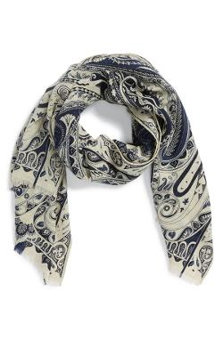 Paisley Wool Blend Scarf by Etro in Limitless