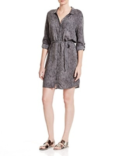 Snake Print Shirt Dress by Three Dots in Master of None