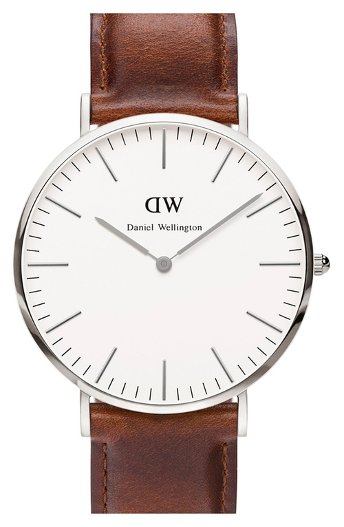 Classic St. Mawes Leather Strap Watch by Daniel Wellington in Mad Dogs -  Looks