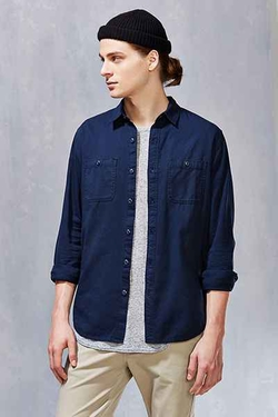 All-Son Button-Down Utility Shirt by Urban Outfitters in The Flash