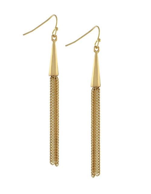 Chain Tassel Linear Earrings by BCBGeneration in Chi-Raq