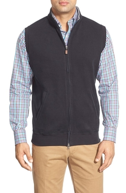 Zip Front Fleece Vest by Peter Millar in Focus