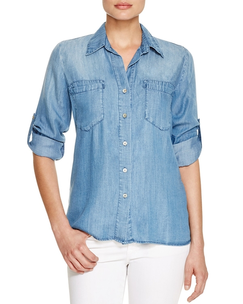 Pocket Chambray Shirt by Just Living in Whiskey Tango Foxtrot