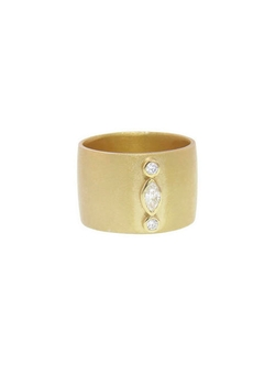 Wide Imperial Band With Diamonds Ring by Megan Thorne in Ballers