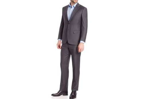 Wool Two Button-Front Suit by Canali in Suits - Season 6 Episode 10