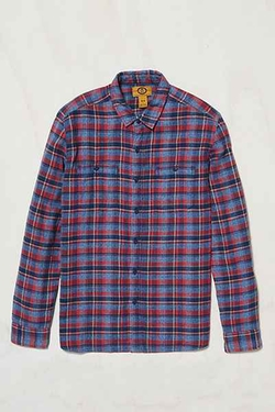 Stapleford Parker Plaid Flannel Button-Down Shirt by Urban Outfitters in The Big Bang Theory