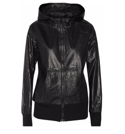 Textured-Leather Hooded Jacket by Y-3+ Adidas in Keeping Up With The Kardashians