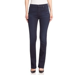 High-Rise Straight-Leg Jeans by Jen7  in The Boss