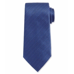Herringbone Woven Silk Tie by Ermenegildo Zegna in House of Cards