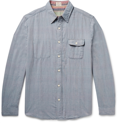 Belmar Reversible Cotton-Chambray Shirt by Faherty in Brooklyn