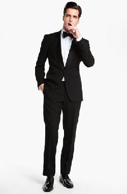'Sky/Gala' Trim Fit Wool Tuxedo by BOSS HUGO BOSS in Godzilla
