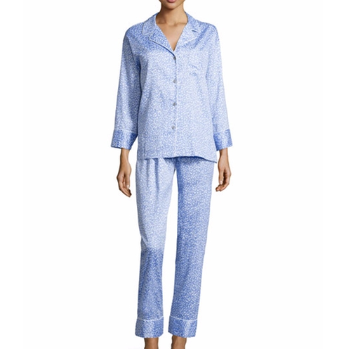 Leopard-Print Two-Piece Pajama Set by Natori in The Man from U.N.C.L.E.