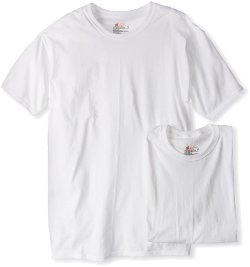 Men's 2 Pack Classics Crew Neck Tee Shirt by Hanes in Kick-Ass