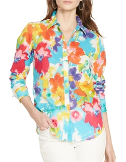 Floral Cotton Shirt by Lauren Ralph Lauren in Grace and Frankie