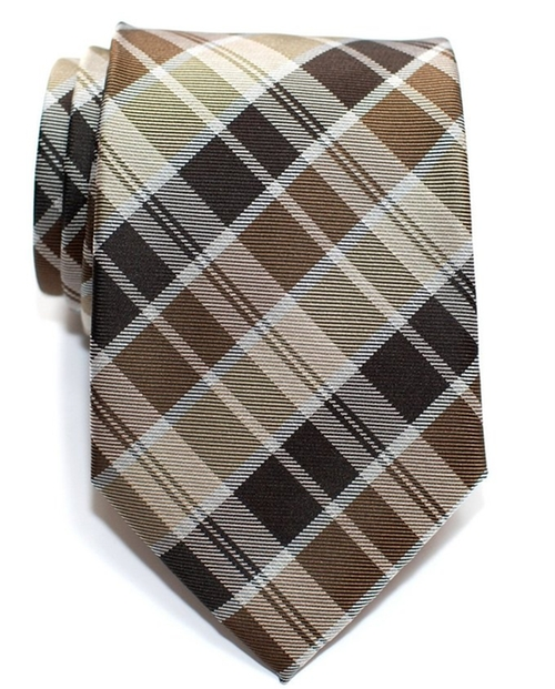 Tartan Check Styles Microfiber Tie by Retreez in Valentine's Day