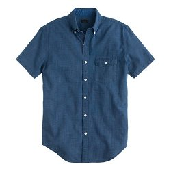Secret Wash Short-Sleeve Shirt by J. Crew in Begin Again
