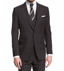Buckley Base Pinstripe Three-Piece Wool Suit by Tom Ford in Ballers