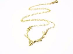Gold Deer Necklace by Sienna Grace Jewelry in Pretty Little Liars