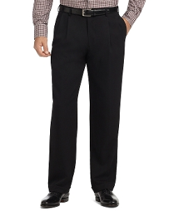 Pleat-Front Unfinished Gabardine Trousers by Brooks Brothers in The Hangover