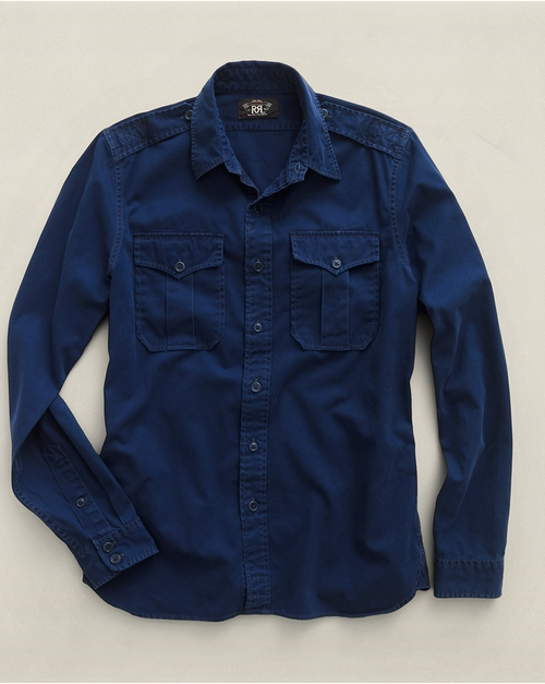 Twill G.I. Utility Shirt by Ralph Lauren in The Gunman