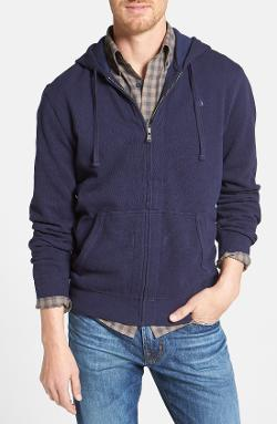 Full Zip Piqué Knit Hoodie by Nordstrom in Project Almanac