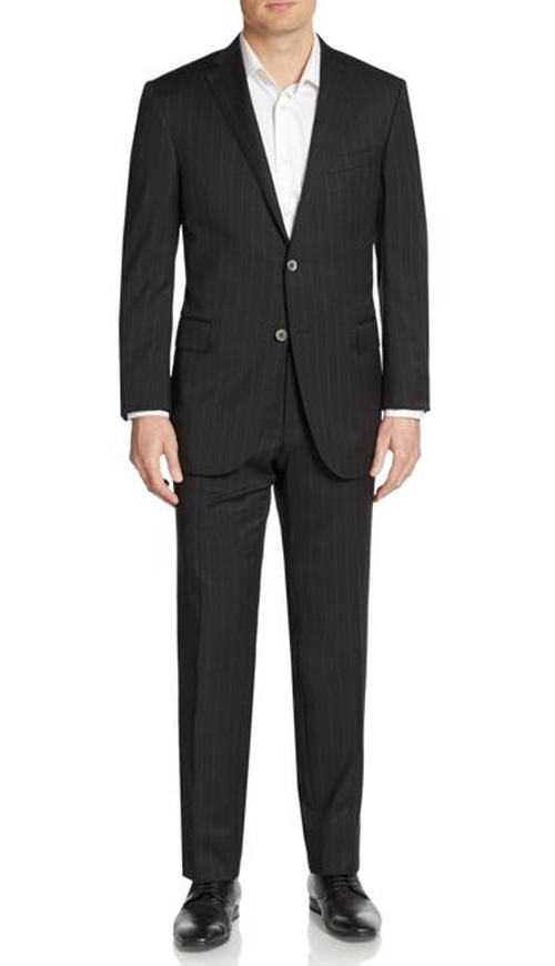 Academy Pinstriped Wool Suit by Corneliani in The Good Wife - Season 7 Episode 12