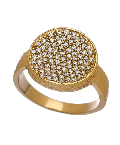 Gold CZ Pave Ring by Melinda Maria Kalena in Hall Pass