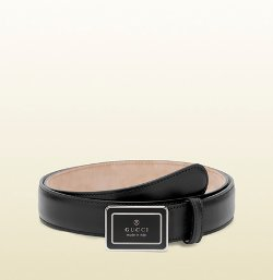 Enamel Gucci Plaque Buckle Belt by Gucci in The Gunman