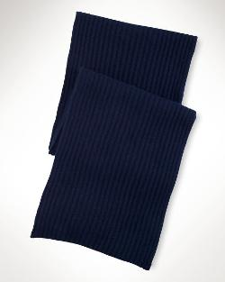 Rib-Knit Cashmere Scarf by Ralph Lauren in Safe House