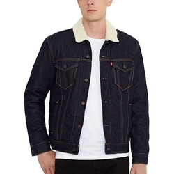 Men's Button-Down Denim Jacket by Levi's in Quantico