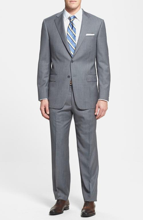 'Chicago' Classic Fit Wool Suit by Hart Schaffner Marx in Yves Saint Laurent