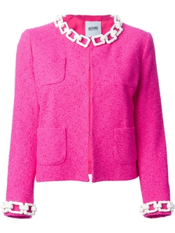 Chain Trim Bouclé Jacket by Moschino Cheap & Chic in The Mindy Project