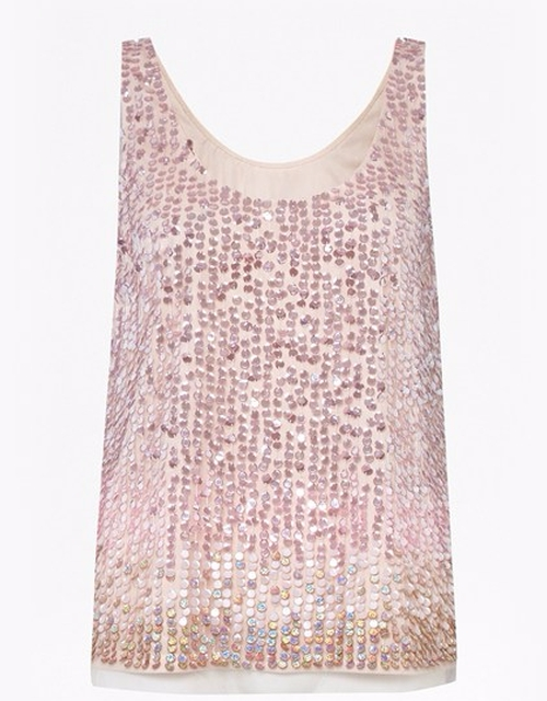 Sunbeamer Ombre Sequin Top by French Connection in Guilt - Season 1 Episode 1
