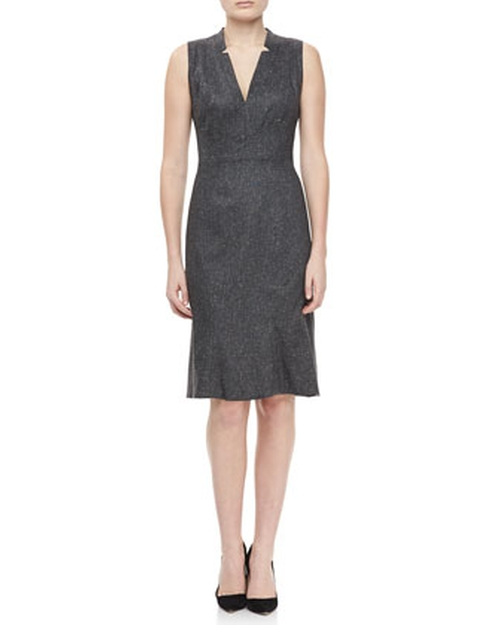 Gray V Neck Dress by Zac Posen in Sex and the City