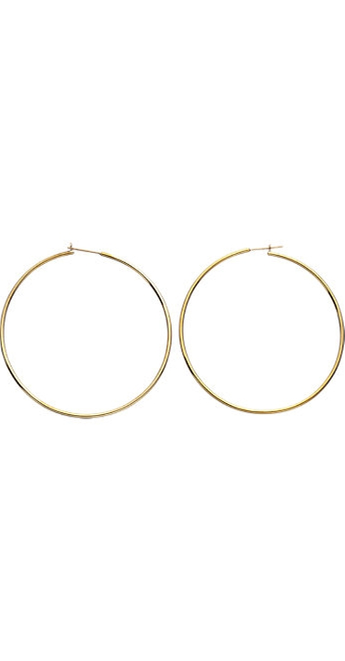 Gold Medium Hoop Earrings by Jennifer Fisher in Mean Girls