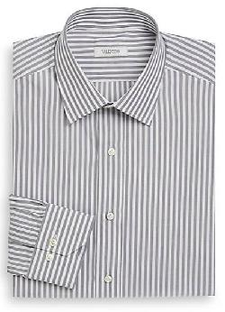 Striped Cotton Dress Shirt/Classic-Fit by Valentino in The Wolf of Wall Street