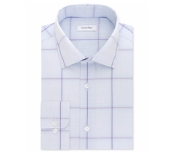 Performance Windowpane Dress Shirt by Calvin Klein in Ballers