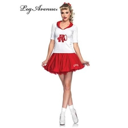 Rydell High Cheerleader Costume by Leg Avenue in Grease