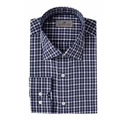 Plaid Trim Fit Dress Shirt by J.B. Workshop in Suits