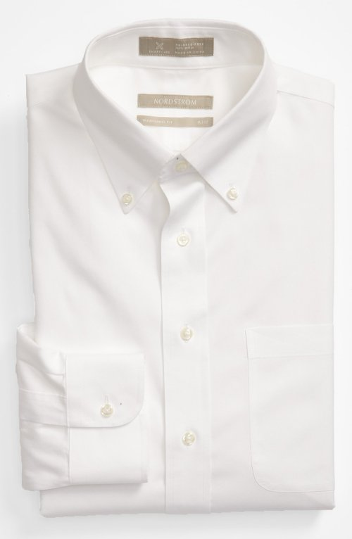 Traditional Fit Pinpoint Dress Shirt by Nordstrom in The Matrix