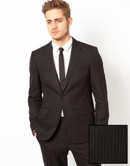 Slim Fit Suit Jacket In Pinstripe by ASOS in Brick Mansions