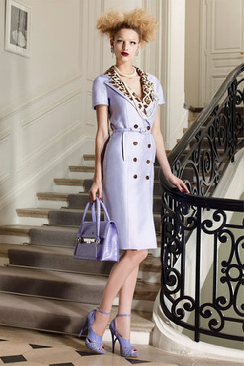 Wendi McLendon-Covey Christian Dior Resort 2010 Silk Coat Dress ...