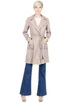 Two Tone Water Resistant Trench Coat by Add in What If
