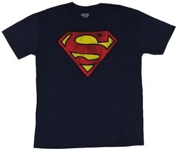 Distressed Dirty Superman Shirt by In My Parents Basement in The Big Bang Theory