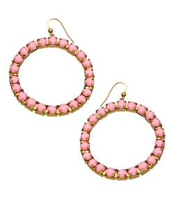 Drop Hoop Earrings by Blu Bijoux in Christmas Vacation