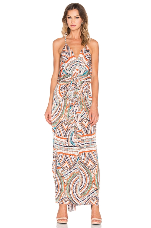 Twist Front Maxi Dress by T-Bags Losangeles in Mistresses