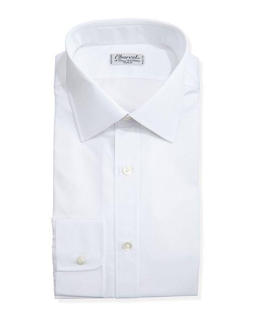Solid Poplin Dress Shirt by Charvet in Get Hard