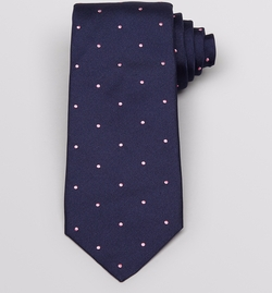 Birchill Spot Woven Classic Tie by Thomas Pink in Scandal