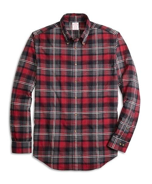 Flannel Graph Plaid Sport Shirt by Brooks Brothers in Sixteen Candles